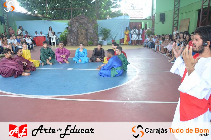 Celebração da Páscoa Escola Arte de Educar de Jacundá 2019