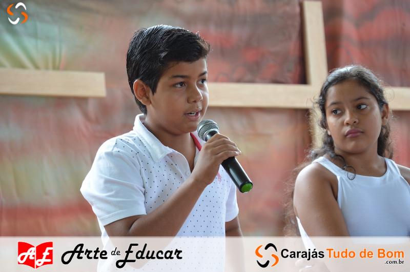Celebração da Páscoa Escola Arte de Educar de Jacundá 2018