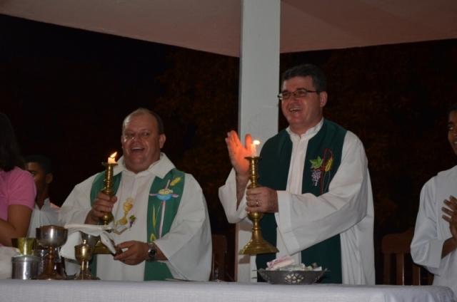 Padre Cláudio e padre Rozalino