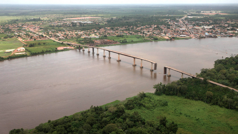 Trecho comprometido é de aproximadamente 50 metros. (Foto: Antonio Silva/Agência Pará)