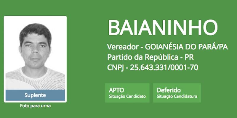 Baianinho assumirá prefeitura de Goianésia do Pará.