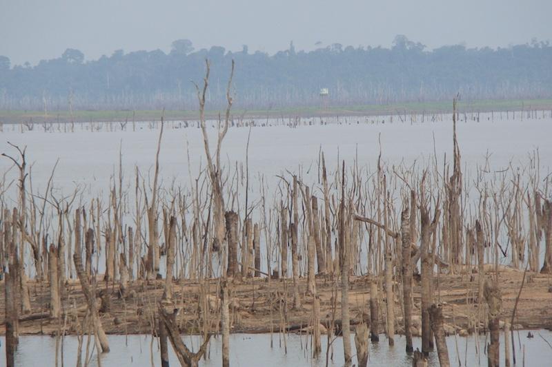 Período prolongado de seca em 2010, torna visível local aonde situava a antiga Jacundá. (Foto: Evandro Dias)