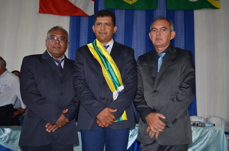 Vice-prefeito Manoel da Leolar, prefeito Célio Boiadeiro e o presidente da Câmara de Eldorado dos Carajás Heraldo Farias. (Foto: Wyll Silva/Carajás Tudo de Bom)