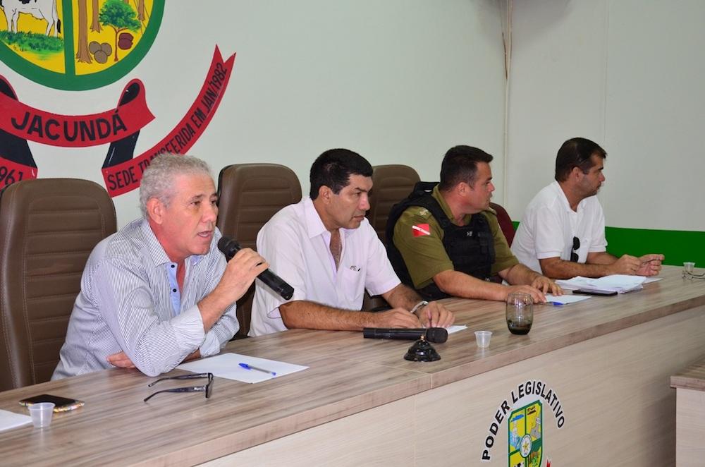 Vice-prefeito e secretário de finanças de Jacundá, garante buscar alternativas para sanar a situação da segurança pública do município. (Foto: Carajás Tudo de Bom/Gilmar Mota)