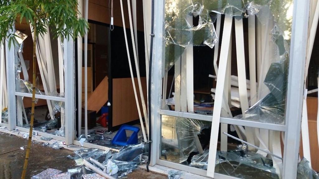 Interior do Ministério da Cultura após depredação (Foto: Yasmin Perna/G1)