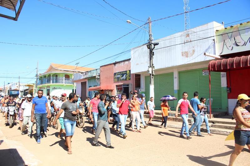 Movimento Vem Pra Rua Curionópolis (Foto: R30/Wenderson Costa)
