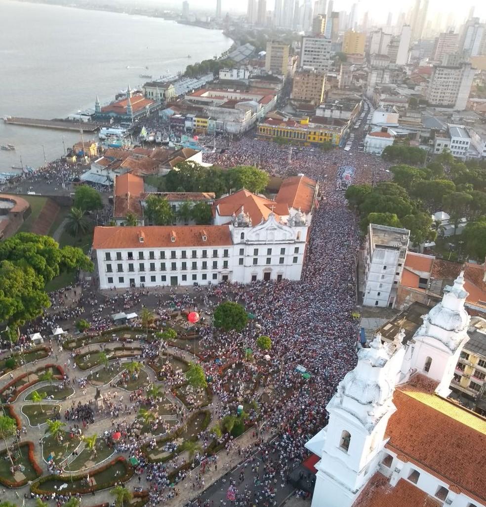 Vista aérea do mar de gente que participou do Círio 2017. (Foto: Divulgação/ Segup)