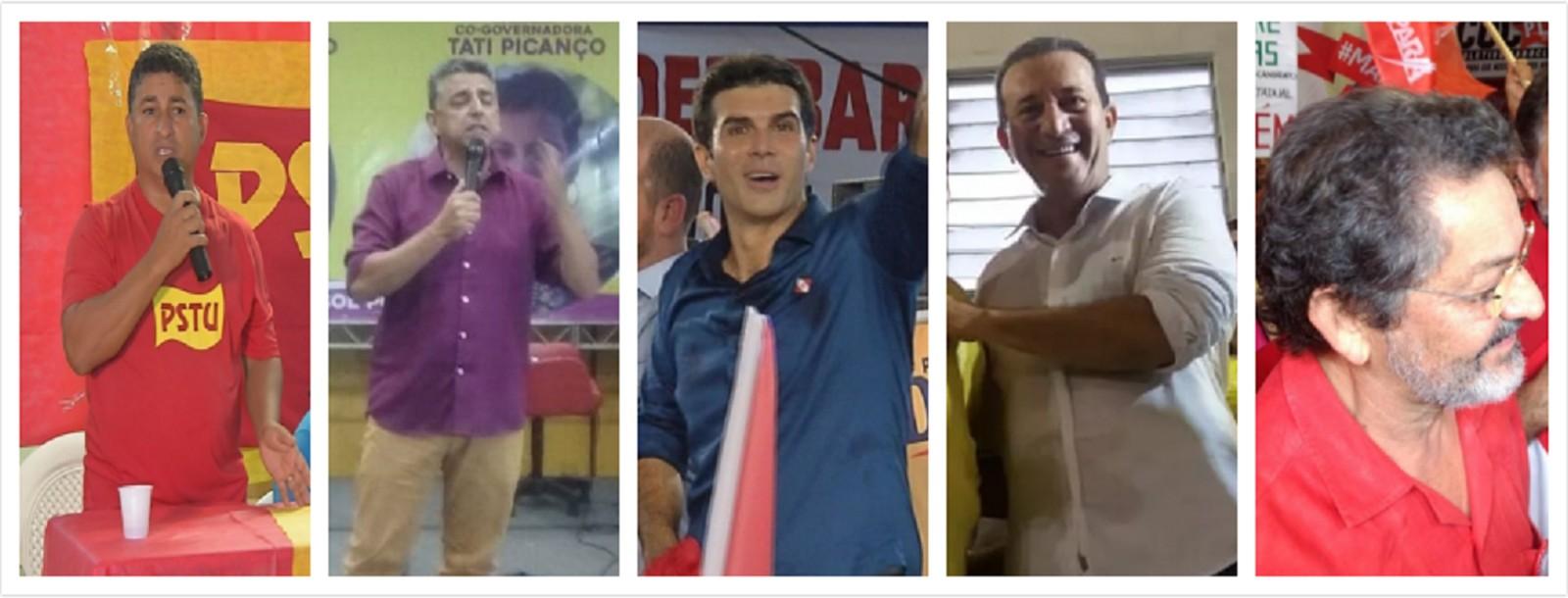 Candidatos ao governo do Pará (Foto: Reprodução)