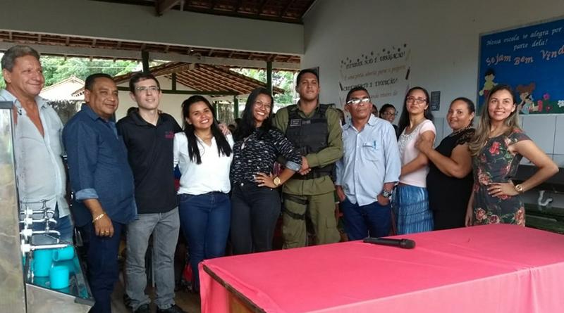 Foto: Representantes do MPPA e de outras instituições durante ação educativa em Goianésia