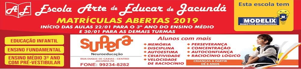 Escola Arte de Educar de Jacundá 2019