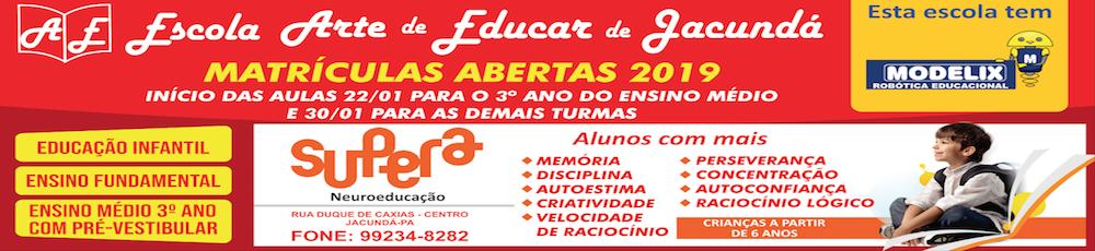 Matriculas Aberta 2019 Arte de Educar